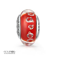 Soufeel Red Murano Glass Bead 925 Sterling Silver CZs Embedded Effervescence Charm Shop->http://www.soufeel.com/red-murano-glass-bead-925-sterling-silver-czs-embedded-effervescence-charm.html