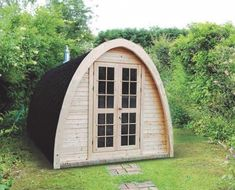 "Sauna POD is a beautiful solution for the gardens with the ""soft edges"". It looks nice and is different from the popular sauna cabins or sauna barrels. It can also be built next to the Camping POD..."