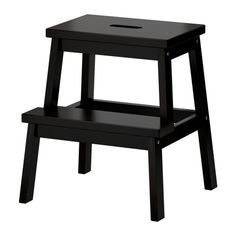 BEKVÄM  Looks so much better painted in black - you could always get & paint something cool.    Step stool, black  £13.99  The price reflects selected options  Article Number :301.788.84  Solid wood, a hardwearing natural material. Hand-hole in the top step makes the step stool easy to move.