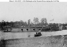 USS Pittsburgh (1862-1865) stern wheeler, ironclad gunboat.