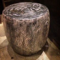 Burnished teak root stool