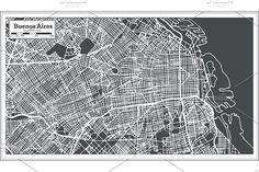 #Buenos #Aires #Argentina #City #Map  by Igor Sorokin on @creativemarket