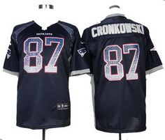 Nike Patriots #87 Rob Gronkowski Elite Drift Fashion blue Jersey $ 22.5