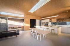 Yeovil Crescent by Residence David Barr Architect Modern Kitchen Cabinets, Kitchen Layout, Kitchen Flooring, Kitchen Countertops, Contemporary Kitchen Design, Modern Bathroom Design, Interior Design Kitchen, Home Decor Kitchen, Home Kitchens