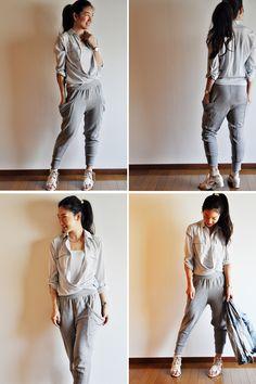 Gray Sweatpants from a Japanese Pattern Book | Vivat Veritas