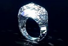 ooooo...someone wanna buy this for me? it's only 68 million dollars! The World's First ALL DIAMOND Ring!