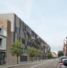 Metamorfose van Hasselts postsorteercentrum naar Curia Center van Urban Dots Studio / ETERNIT en VANDERSANDEN