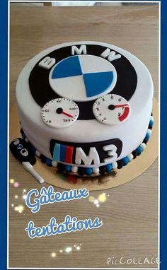 bmw birthday cake for men ; bmw birthday cake for husband ; bmw birthday cake for boys ; bmw birthday cake for kids Birthday Cakes For Men, Birthday Cake For Husband, Fondant Flower Cake, Fondant Cakes, Fondant Bow, Fondant Tutorial, Fondant Figures, Bmw Torte, Bike Cakes