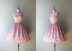 60s Dress / Vintage 1960s Bold Spring Floral by HolliePoint, $78.00