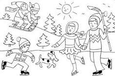 Výsledek obrázku pro zimní sporty Coloring Book Pages, 2 Colours, Art Education, Kindergarten, Snoopy, Stitch, Comics, Drawings, Fictional Characters
