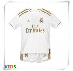 Real Madrid Replika babykläder Hemmatröja Barn 2019/20 Kortärmad (+ Korta byxor) Real Madrid, James Rodriguez, Isco, Onesies, Barn, Kids, Clothes, Young Children, Outfits