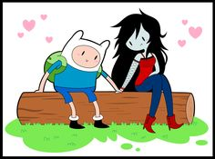 Cute pic of Finn and Marceline from Adventure Time Adventure Time Comics, Adventure Time Finn, Cartoon Network Adventure Time, Finn And Marceline, Pendleton Ward, Shadow People, Finn The Human, Vampire Queen, Jake The Dogs