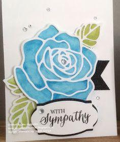 Sympathy card using Stampin Up Rose Wonder Stamp bundle. By Jan McQueen www.janscreativecorner.blogspot.com.