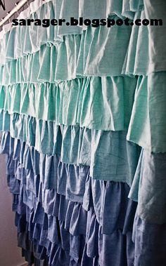 HOUSE OF SARAGER: Anthropologie Flamenco Shower Curtain DIY Knock-Off