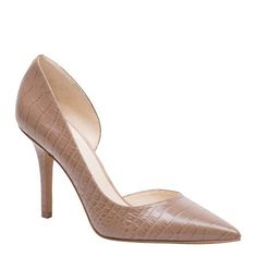 JIA - If you love a pointed-toe d'Orsay heel, you'll definitely want Jia. One shoe that offers so many looks. Wear Jia with tapered pants in a rich hue or leather skinnies with a blouse, blazer and clutch. Leather upper, 10cm heel height.