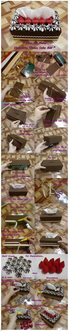 Chocolate Tissue Cake Box..