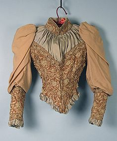 Bodice w/ Elaborate Soutache, c. 1894 ... B'day dress fodder