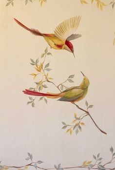 Vogel Illustration, Tantra Art, Art Deco Cards, Faux Painting, Mural Wall Art, Scroll Design, Motif Design, Bird Drawings, Hand Painted Furniture