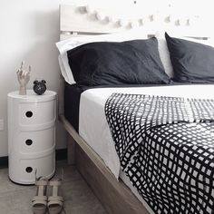 Cheap solution to a bedside table and storage