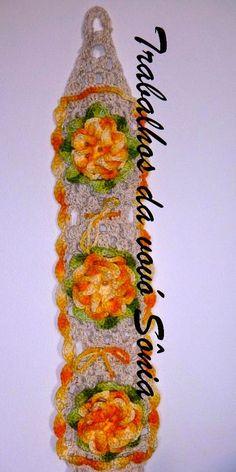 Trabalhos da vovó Sônia: Porta-papel higiênico com flor - 3 variações - cro...