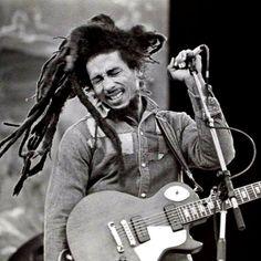 """Feel dem spirit!"" #PutItOn | Bob rocks Dalymount Park in Dublin on July 6, 1980. #todayinbobslife"