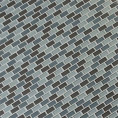 Majestic Ocean Mini Brick 12 in. x 12 in. x 8 mm Glass Mesh-Mounted Mosaic Tile-GLSMBRK-MO8MM - The Home Depot