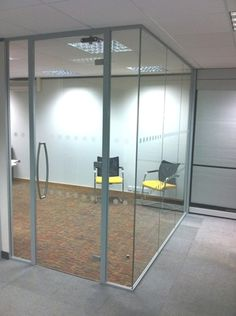 Office design glass partitioning with nice interchangeable grey