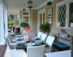 Wouldn't this be great for a dinner party? It's wonderful when you have such a nice wide porch. You need at least 12' wide for this.