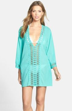 Crochet trim cover up - on sale