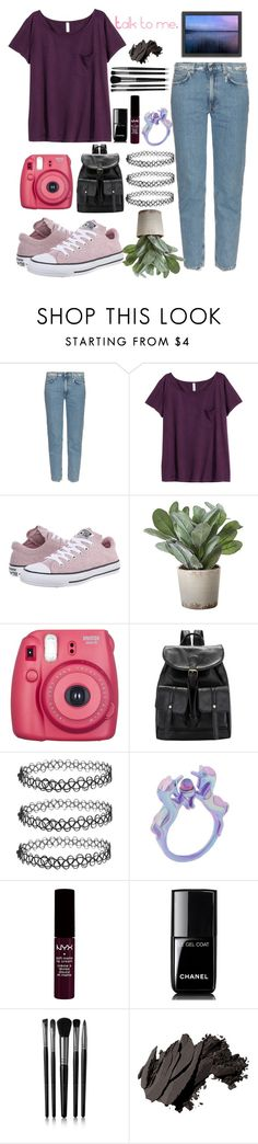 """""""Untitled #209"""" by madinasarsenbaeva ❤ liked on Polyvore featuring Acne Studios, H&M, Converse, Torre & Tagus, NYX, Chanel, Illamasqua, Bobbi Brown Cosmetics and Americanflat"""