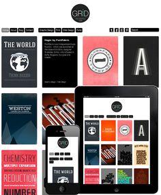 Grid Theme Responsive | WordPress Themes Free & Premium Grid Based - Dessign Minimalist Wordpress Themes, Best Free Wordpress Themes, Wordpress Free, Themes Free, Creating A Portfolio, Portfolio Site, Tile Layout, Website Themes, Website Designs