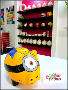 its Minions which are adorable and a piggy bank which i need.