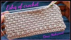 Crochet Basket Pattern, Crochet Stitches Patterns, Crochet Designs, Knitting Patterns, Simple Crochet Patterns, Crochet Stitches For Blankets, Crochet Crafts, Crochet Yarn, Crochet Projects