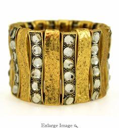 Karine Sultan: 24k Gold & Crystals Bracelet  /35