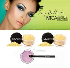 2x Mica Beauty Mineral Loose Foundation Color: Mf2 Sandstone   Oval Eye Shadow Brush   Eye Shimmer