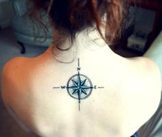 Not crazy about tattoos, but I love this. #compasstattoo