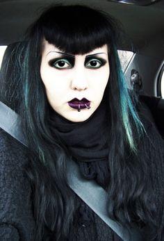 Goth girls thinking safety first!