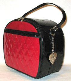 Lux De Ville Red & Black Cosmetic Case