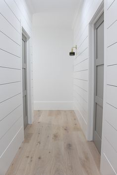 flooring decor The Forest Modern: Our Aged French Oak Hardwood Floors - The House of Silver Lining Hardwood Floor Colors, Light Hardwood Floors, White Oak Floors, Bathroom Hardwood Floor, White Walls, White Painted Wood Floors, White Wooden Floor, Light Wooden Floor, Wood Bathroom