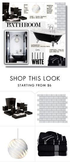 """""""BUBBLE BATH"""" by larissa-takahassi ❤ liked on Polyvore featuring interior, interiors, interior design, home, home decor, interior decorating, Mike + Ally, Merola and bathroom"""