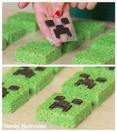 These Rice Krispie treats are basically Pinterest-fail-proof. | 31 DIY Birthday Party Ideas That Will Blow Your Minecraft