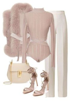Untitled A fashion look from November 2015 by leilaallaf featuring Elie Saab, Emilia Wickstead, Schutz and Chloé Classy Outfits, Chic Outfits, Winter Outfits, Fashion Outfits, Womens Fashion, Fashion Trends, Classy Casual, Mode Chic, Mode Style