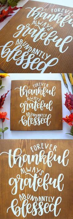 Imaginative Halloween Costumes - The Best Way To Be Artistic With A Budget Thanksgiving Sign - Thankful - Grateful - Blessed - Fall Decor - Rustic Wood - Hand Lettered - Thanksgiving Decor - Rustic Decor Rustic Signs, Rustic Decor, Rustic Wood, Wood Signs, Wood 8, Rustic Art, Fall Crafts, Holiday Crafts, Diy And Crafts