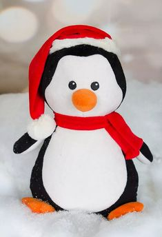 Buy Penquin Christmas Presale on Embroidered stuffed animals - very limited quantities - personalized gifts by emagesembroidery. Explore more products on http://emagesembroidery.etsy.com