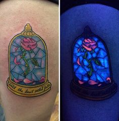 47 Glow In The Dark Tattoos Look Awesome In UV Blacklight - #art #glow #rave #tattoos