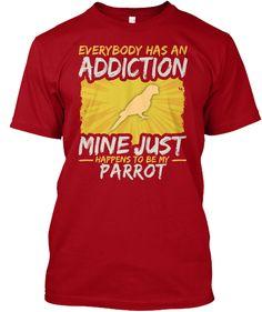 Gerbil Addiction Animal Lover Deep Red T-Shirt Front Camel Tow, Parrot Pet, Parrot Toys, Gerbil Toys, Parrot Flying, Pet Mice, Animal Quotes, Animal Humor, Reindeer