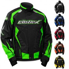 Castle X Charge G3  Mens Snowmobile Winter Snow Skiing Sled Coat Jackets