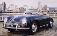 Porsche 356A Speedster replica from Top Gun- Kelly McGillis's car. I got one of these for Christmas.