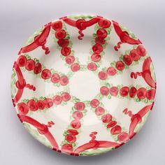 umma Teller, Plates, Tableware, Design, Red, Green, Tablewares, Licence Plates, Dishes