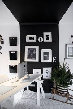 czarny panel jako dekoracja